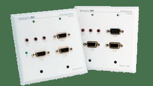 VADI-WALL-KIT Two-Gang Wall Plate Extender Set UXGA stereo audio RS-232 IR 1000 feet CAT5 cable