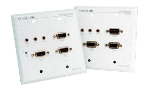 VADIW-RX UXGA Audio RS-232 IR Point-to-Point Wall Plate CAT5 Extender