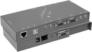 KVM-PRO-KIT KVM Computer Transport Extender WU Stereo Audio RS232 IR USB 1-1 up to 275ft over CAT5 UTP or Twisted Pair CableXGA Video