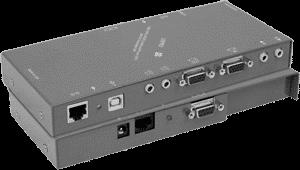 KVM-PRO-RXS KVM Computer Transport Extender Receiver WUXGA Video Stereo Audio RS232 IR USB 1-1 275ft CAT5 UTP Twisted Pair Cable