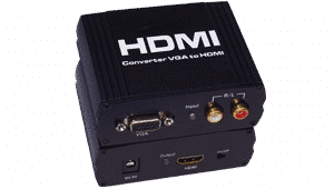 VGAHDMI-1x1 VGA to HDMI Converter VGA Stero Audio Inputs converted to an HDMI 1.2 Output