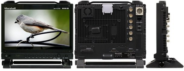 "OR-901-XDI Fully Featured 9"" Rack Mountable Camera-Top LCD Field Monitor with HD-SDI / HDMI Cross Conversion & Anaglyph 3D"