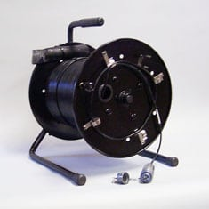 TFC-2000 Tactical Military Broadcast SMPTE Lemo OpticalCon Fiber Optic Cable Spool Assemblies