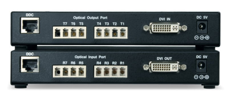 FOE-1700-DVI DVI Fiber Optic Extender Dual Link 7 Channel