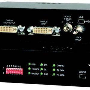FVT/FVR-2100-A-D-USB-DVI Single Link, Dual Link or RGB-HV, & 2-CH Audio, Data and USB over 1 Fiber