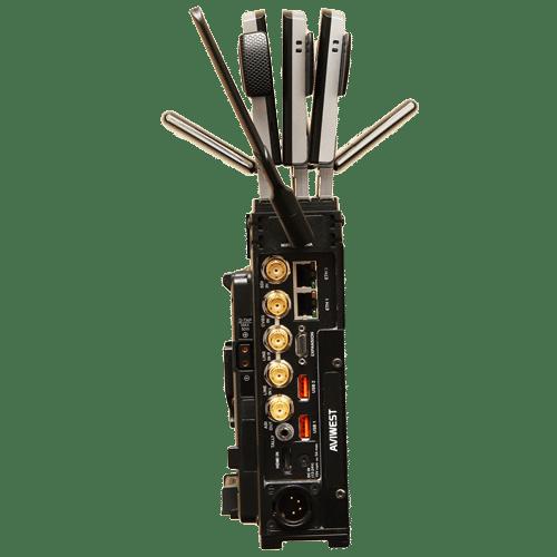 AVIWEST DMNG PRO110 3G/4G Bonded Cellular Video Transmission System 10 External Modems with ASI Output