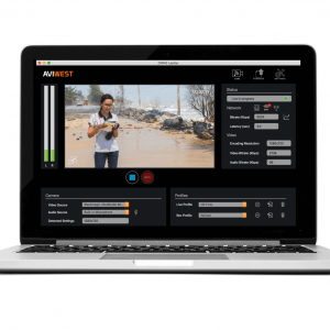 AVIWEST DMNG Laptop Newsgathering Application for Apple MacBook Pro® with H.264/AVC & H.265/HEVC Encoding