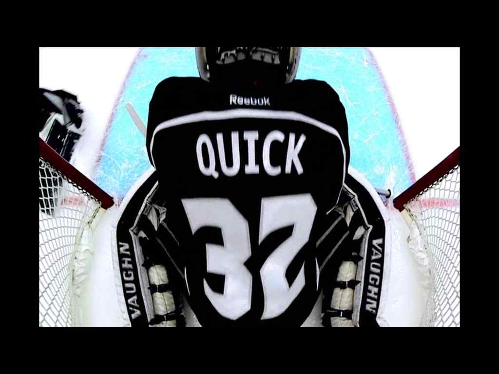 Jonathan Quick, LA Kings Goalie, caught on VidOvation 60GHz Wireless In-net GoalCam
