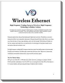 Microwave Wireless Ethernet's effect on High Frequency Trading