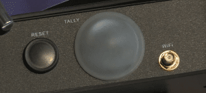 Tally, Wi-Fi Antenna Port, and Reset
