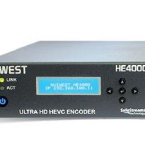 AVIWEST HE4000 HEVC Single 4K UHD and Quad HD Video Encoder via Public Internet