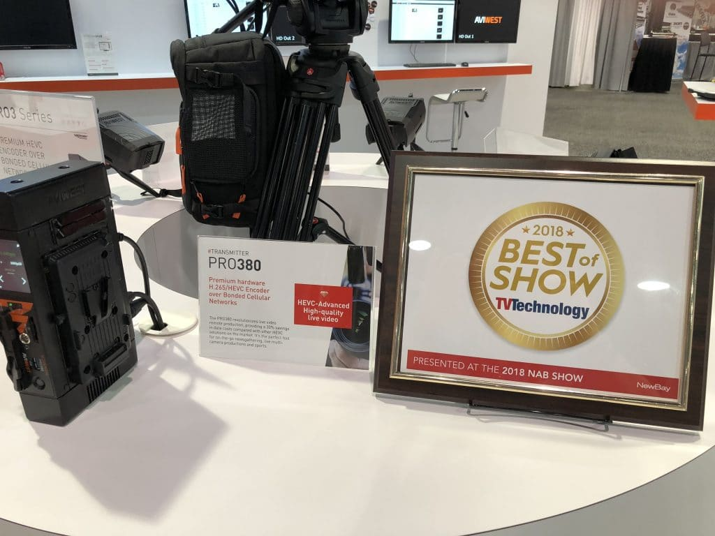 AVIWEST PRO380 HEVC Bonded Cellular - Best of Show NAB 2018