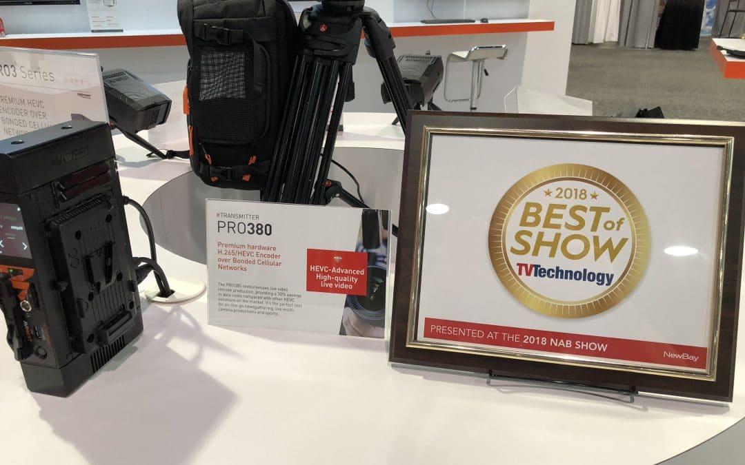 Best of Show 2018 TV Technology – AVIWEST PRO380 Enhanced HEVC Bonded Cellular Uplink – Save up to 65% on Cellular Data