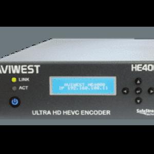 AVIWEST HE4000 HEVC Single 4K UHD and Quad HD Video Encoder via Public Internet & Cellular